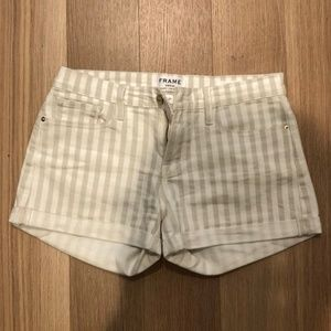 FRAME Striped Le Cut Off Shorts Size 27